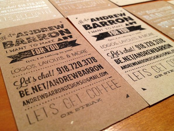 My Custom Stamped Business Cards By Andrew Barron Via Behance
