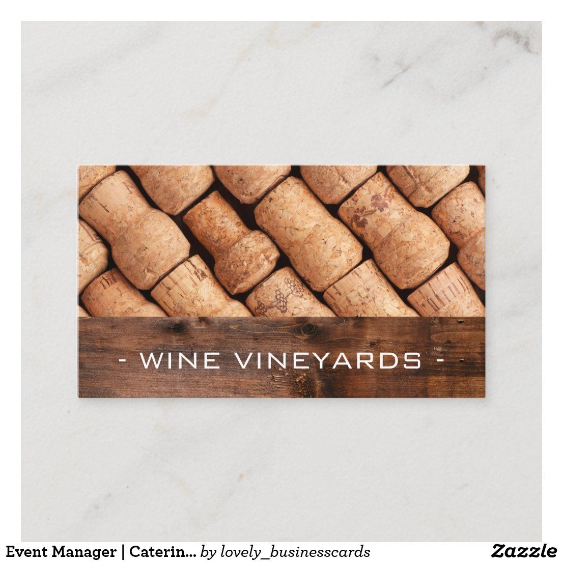 Event Manager | Catering Services | Winery Business Card | Zazzle.com