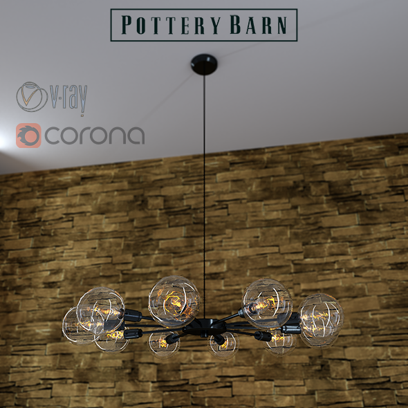 Mid Century Orb Chandelier By Pottery Barn Orb