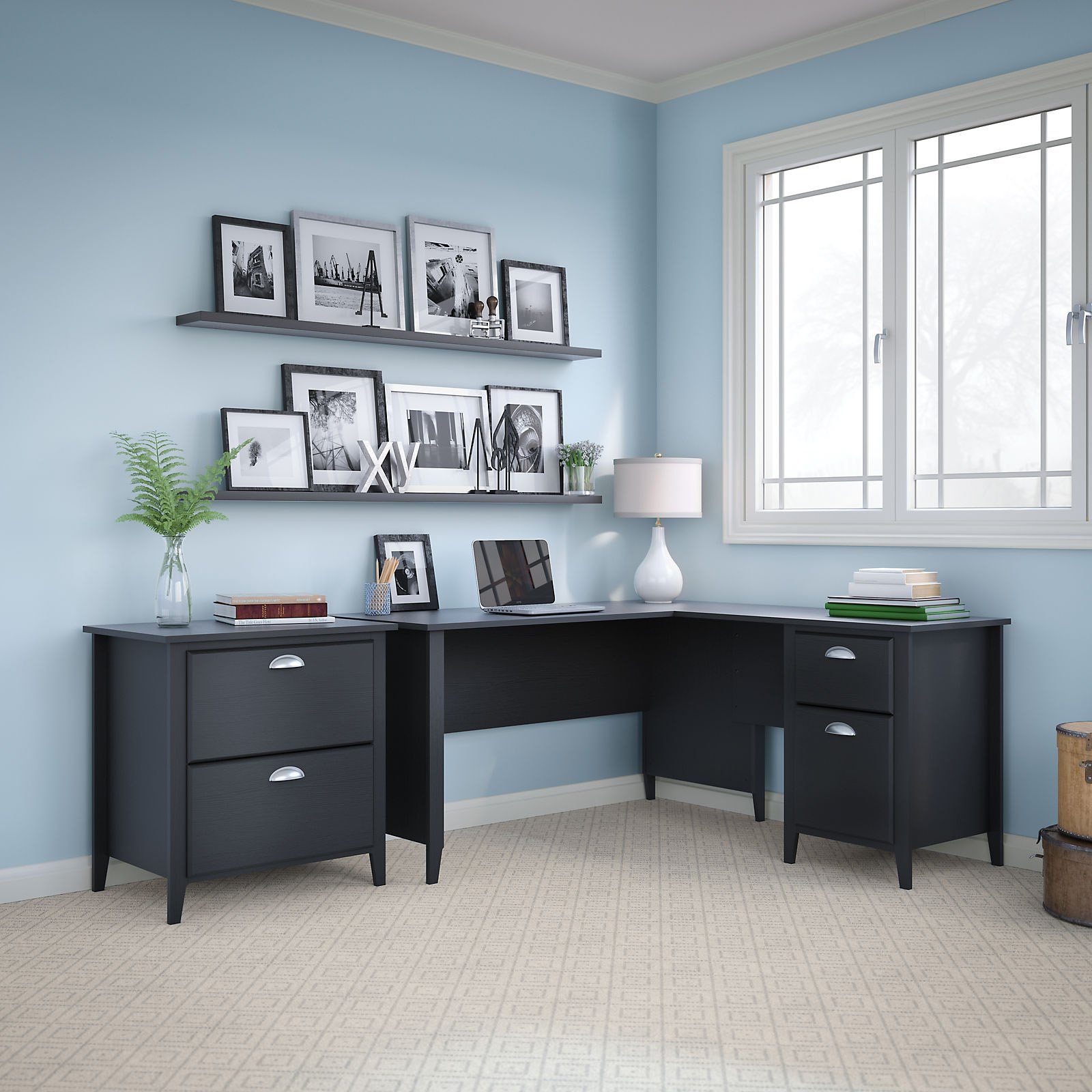 Kathy Ireland By Bush Furniture Connecticut 60 In. L Desk