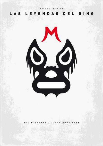 My LAS LEYENDAS DEL RING - Mil Máscaras poster Art Print