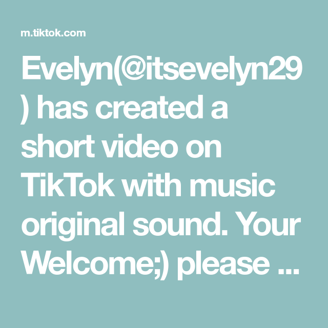 Evelyn Itsevelyn29 Has Created A Short Video On Tiktok With Music Original Sound Your Welcome Please Don T Let This The Originals Saddest Songs Mood Boost