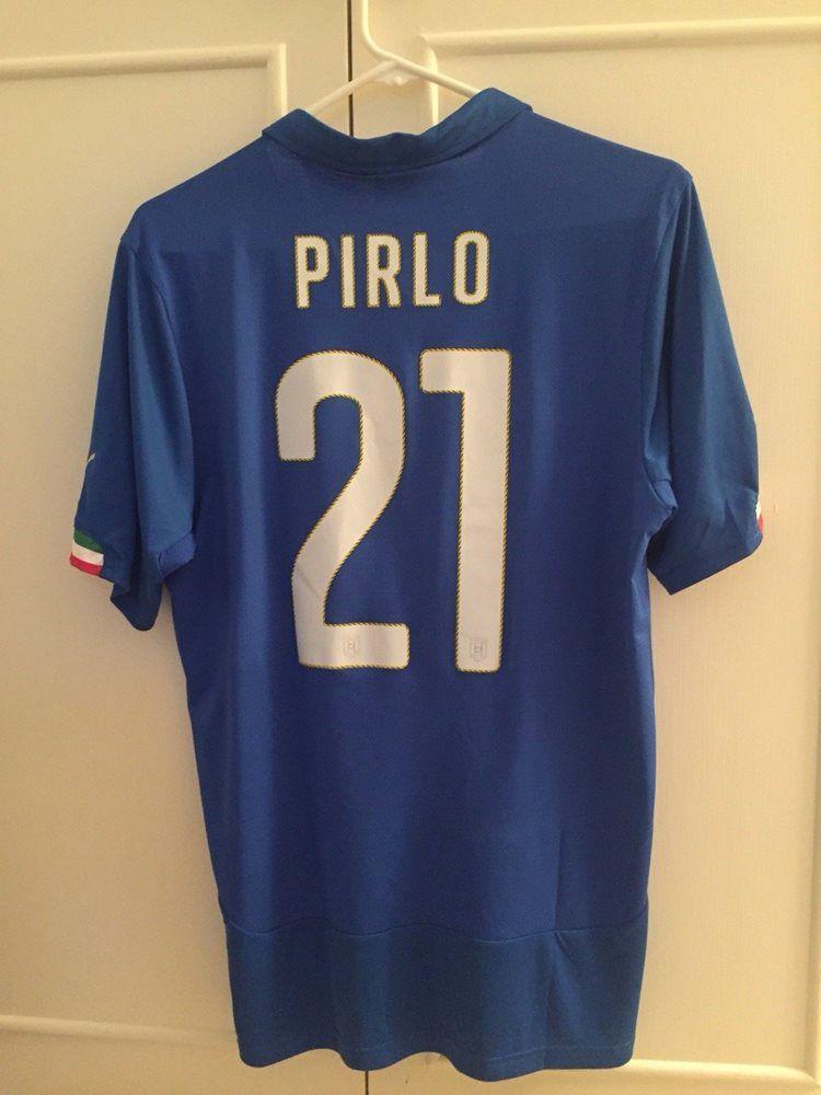 e001a4766 PUMA ANDREA PIRLO ITALY HOME JERSEY FIFA WORLD CUP BRAZIL 2014 sz L ...
