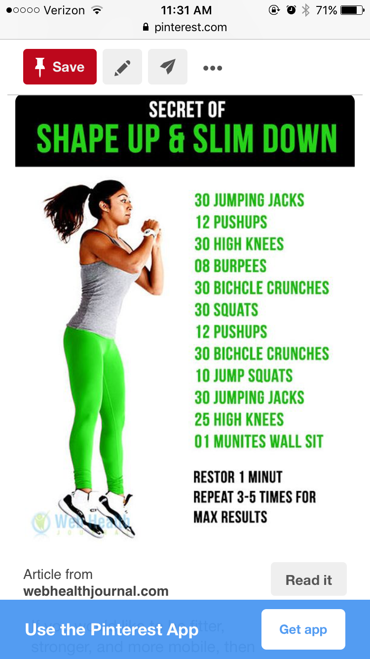 Pin by Charese Grier on Exercise | How to slim down ...