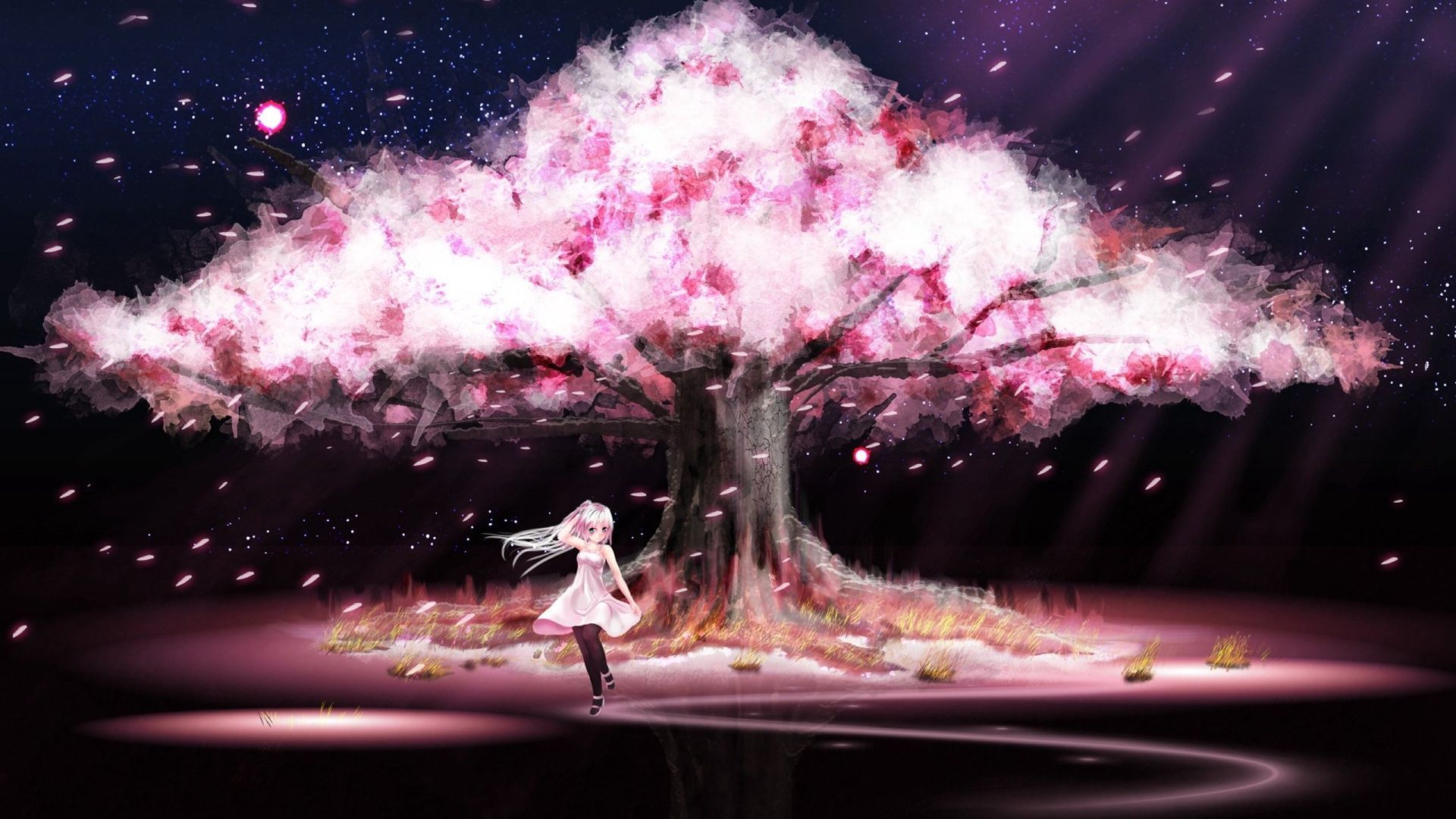 Diabolik Lovers One Shots Requests Closed Cherry Blossom Wallpaper Anime Cherry Blossom Anime Scenery