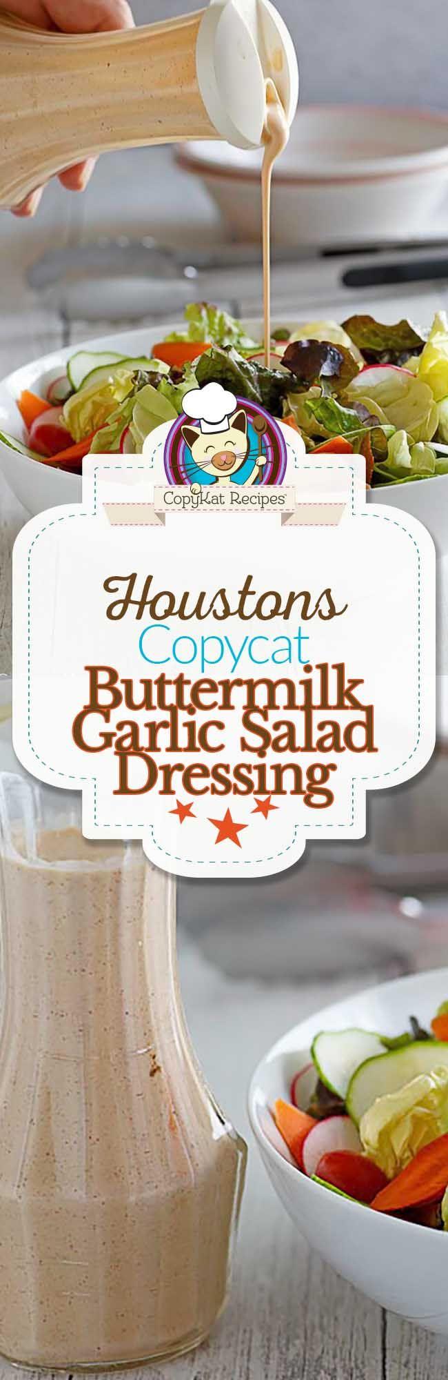 Houston S Buttermilk Garlic Salad Dressing Recipe Food Recipes Copykat Recipes Copycat Recipes