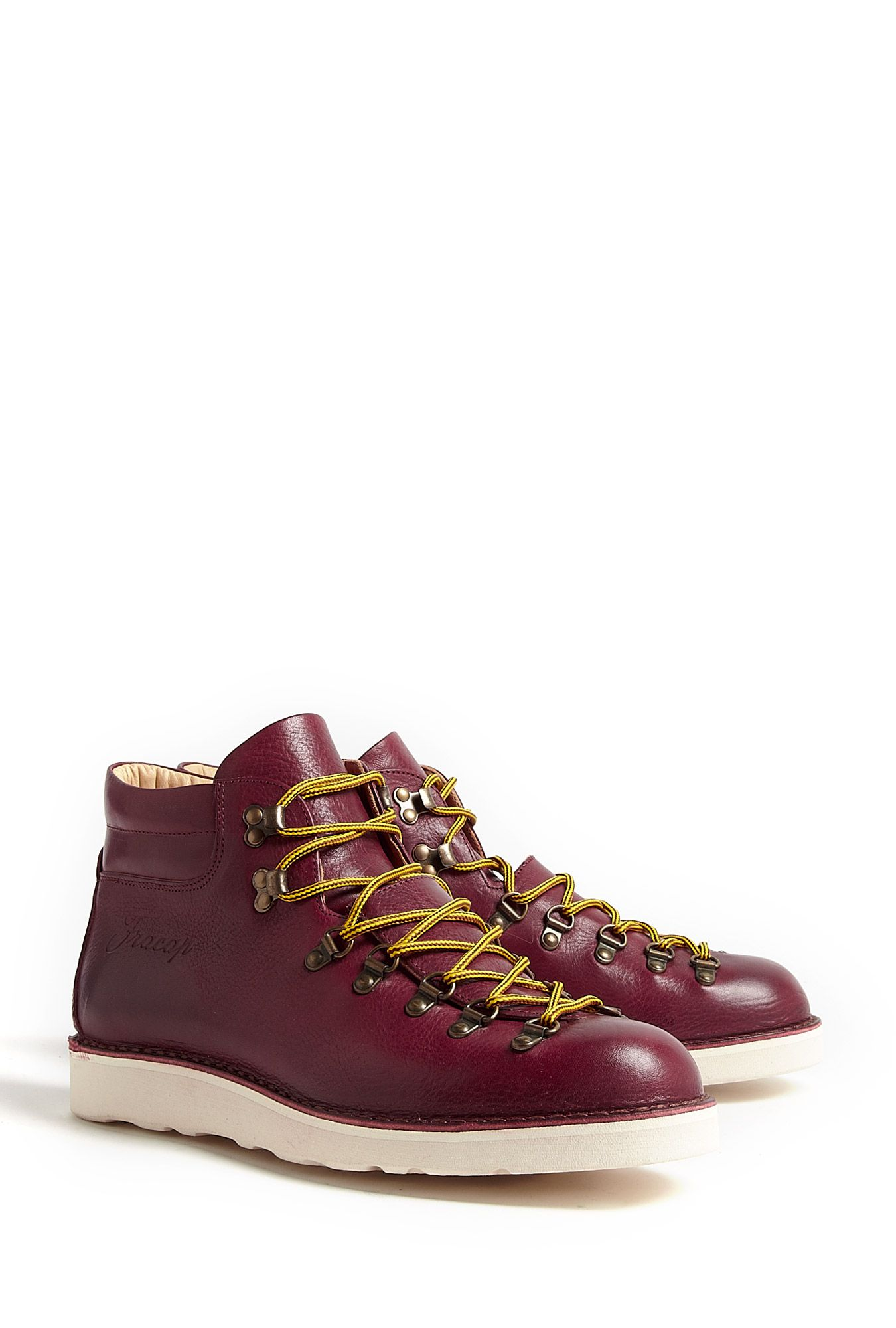 8ca72a489a2 FRACAP DEEP RED LEATHER VIBRAM SOLED HIKING BOOTS | Fashion ...