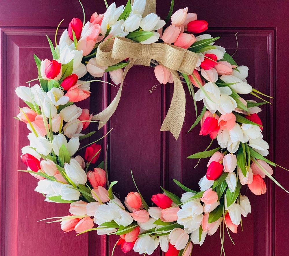 Photo of Simple spring wreath for front door idea DIY