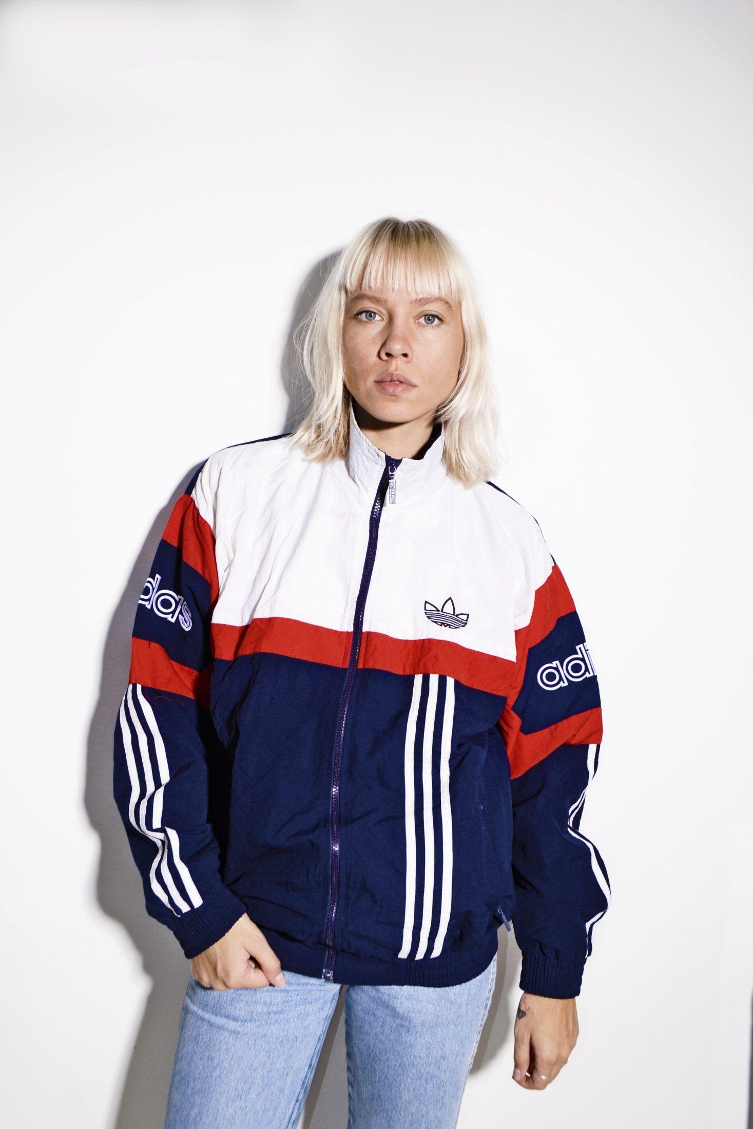 Adidas Originals Vintage 90s Jacket Vintage Clothing Online Tracksuit Tops Vintage Outfits