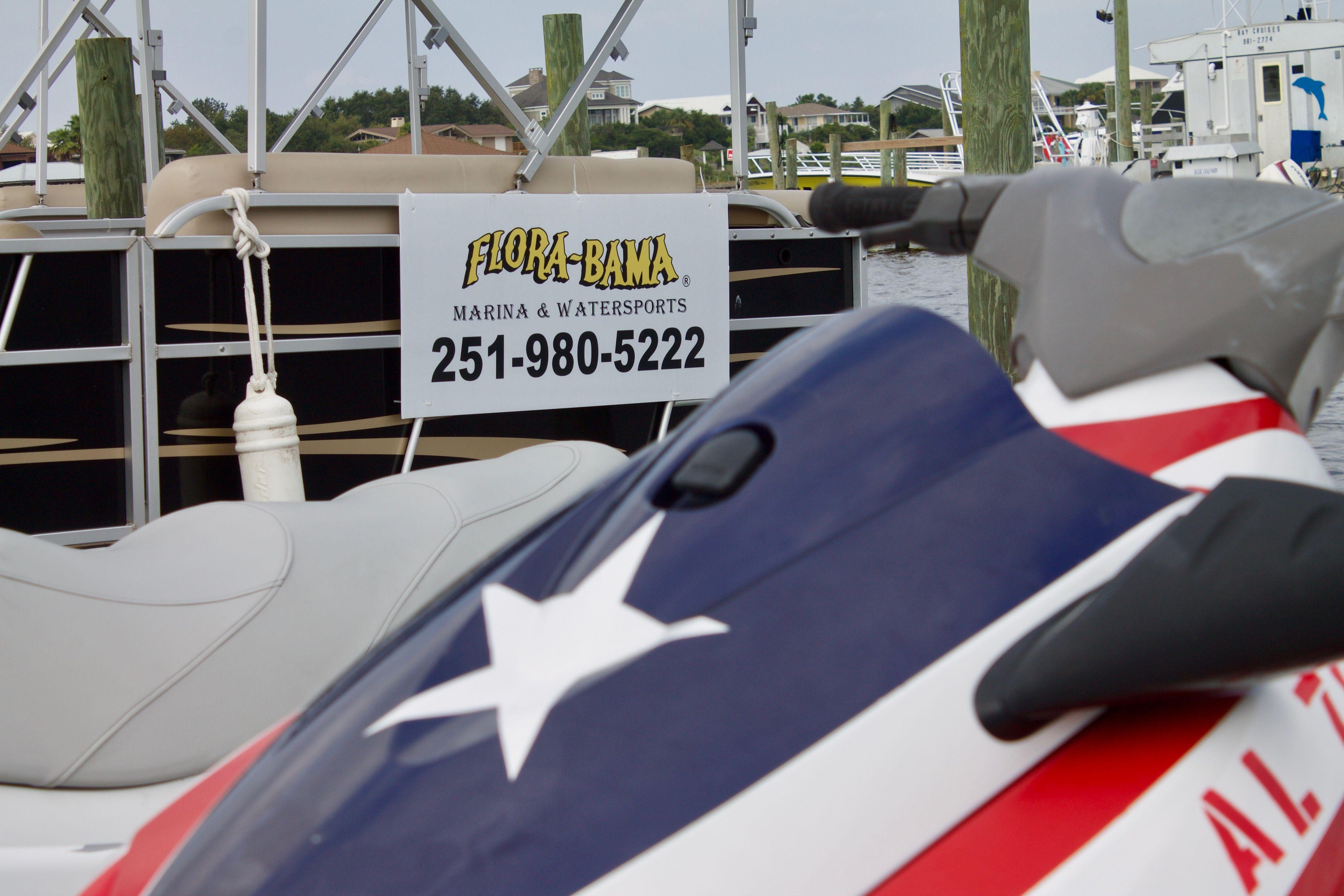 Come rent a jet ski or a pontoon at florabama marina