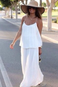 Pin By Christine Spinelli On Tablescapes Long White Dress Fashion White Dress