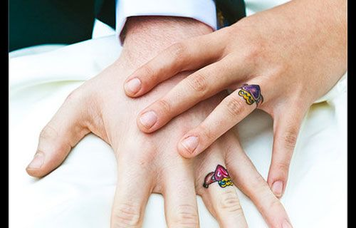 wedding ring tattoos r cool - Wedding Rings Tattoos