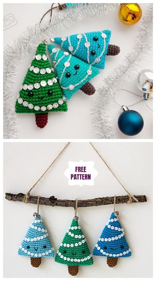 Crochet Mini Christmas Tree Ornament Free Crochet Patterns Crochet Christmas Decorations Crochet Christmas Ornaments Free Christmas Crochet Patterns
