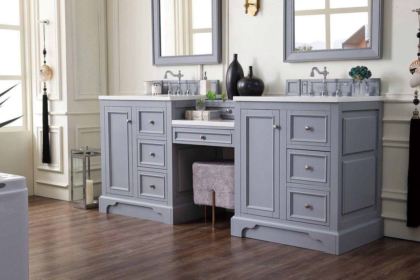 "De Soto 82"" Double Bathroom Vanity (With images) Grey"