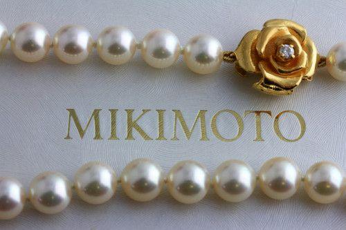 Mikimoto Grace de Monaco Pearls with Rose clasp