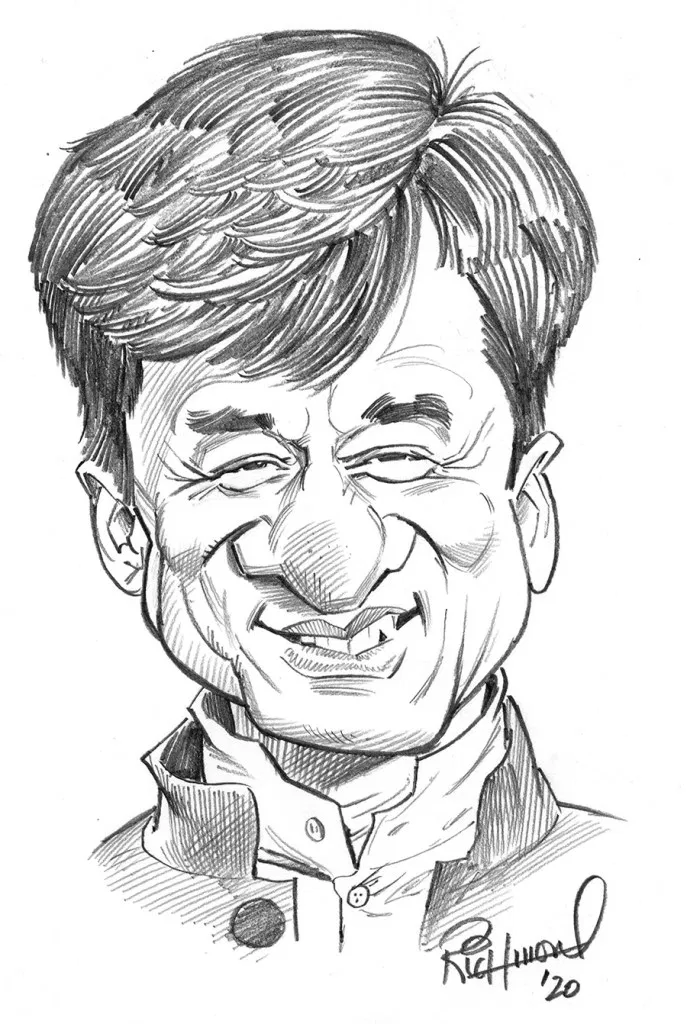 Tom S Daily Coronacature Jackie Chan Caricature Sketch Spiderman Art Sketch Cartoon Character Design
