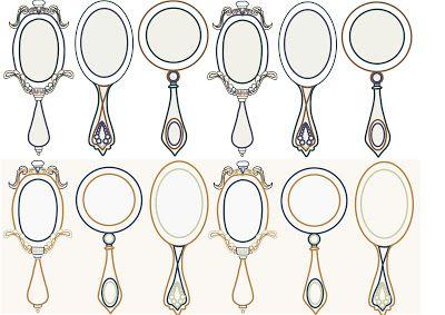 Pix For Gt Old Hand Mirror Drawing Espelho De Mao Espelho Antigo