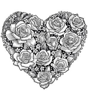 Amazingly Exquisite Free Printable Coloring Pages of Flowers | Adult ...