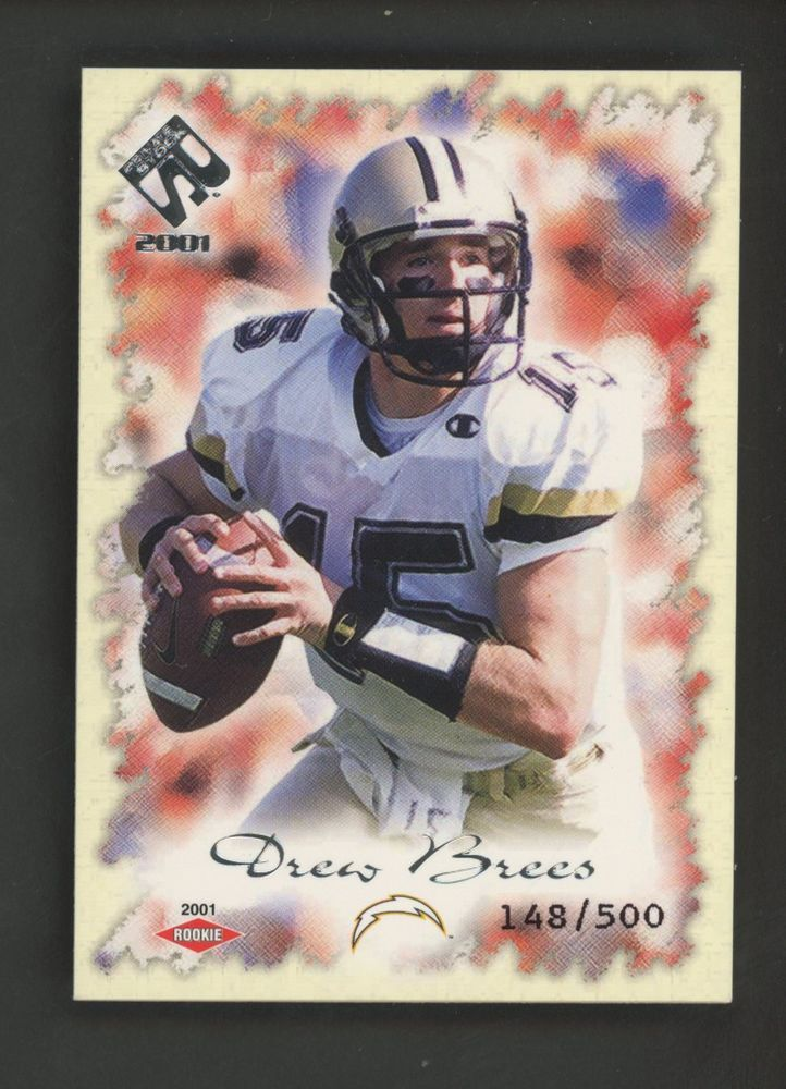2001 private stock drew brees san diego chargers rc rookie