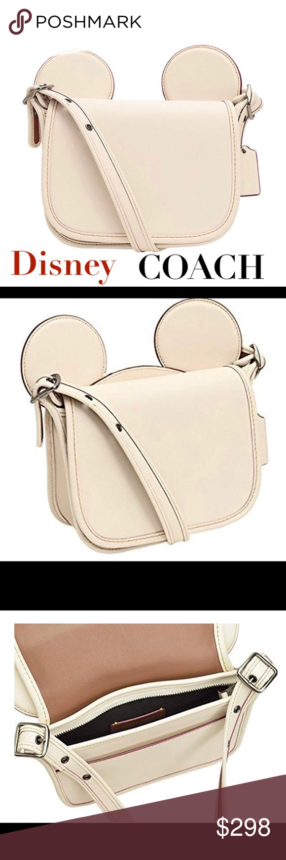 a26a736d COACH DISNEY PATRICIA SADDLE WITH MICKEY EARS BAG ❤️❤️ AUTHENTIC ...