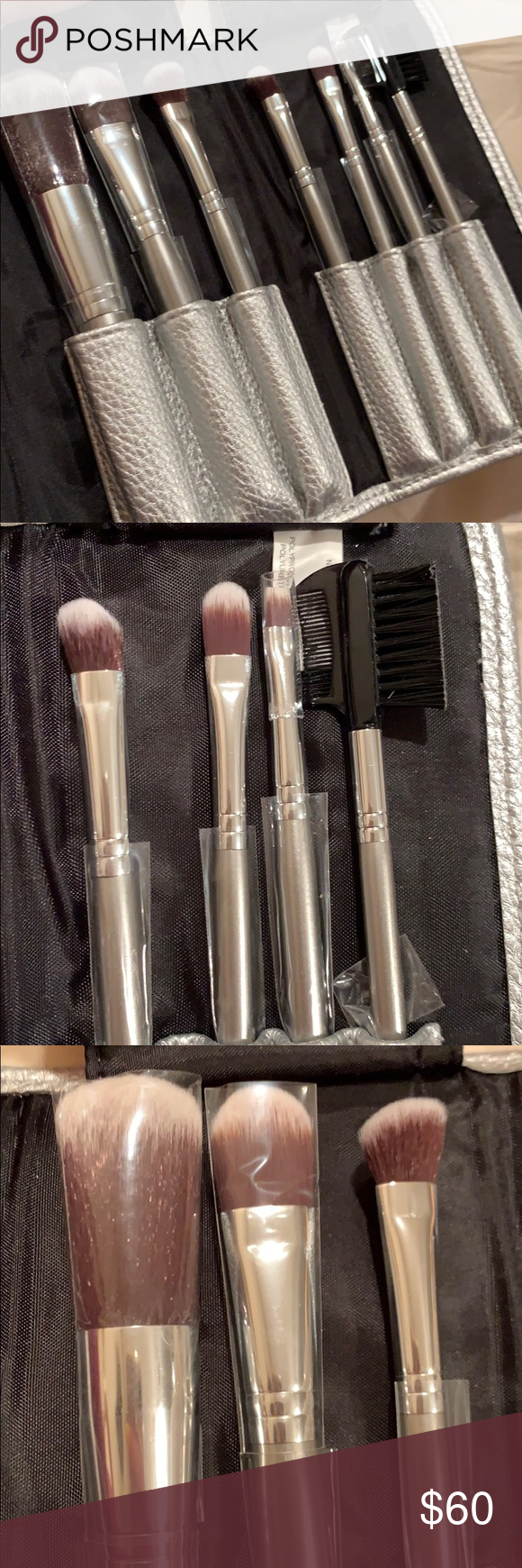 Sephora Travel 7 piece makeup brush set NWT NWT Sephora