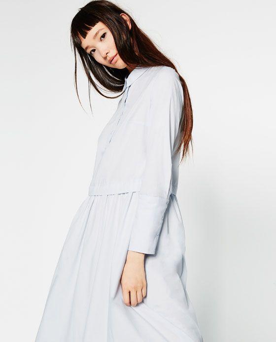 Image 2 of LONG POPLIN DRESS from Zara