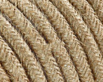 Cable Electrique Textile Tissu Au Metre Par Lacorde Sur Etsy Tissu Astuce Rangement Abat Jour