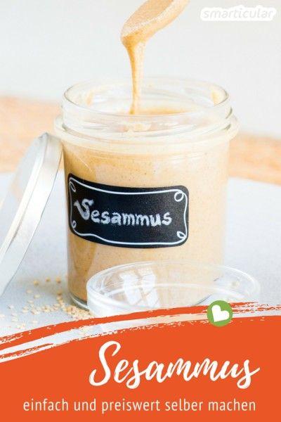 Sesammus (Tahin) ganz einfach selber machen - im Mixer