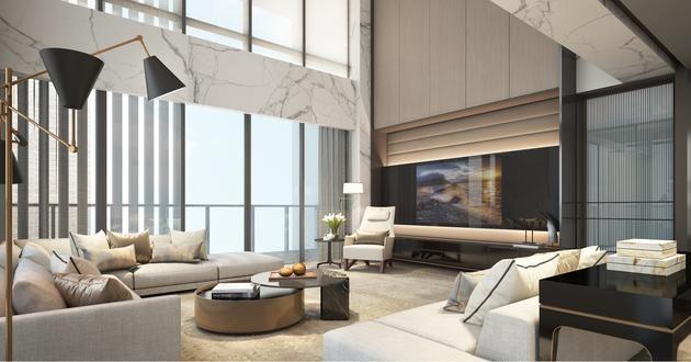 Oct Tian Er Hu Shenzhen Interiors Scda Luxury Living Room Contemporary Interior Design Interior Design