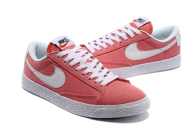 the best attitude b7efd 0661c Original Nike Blazer Low Leinwand klassischen Damen orange rot