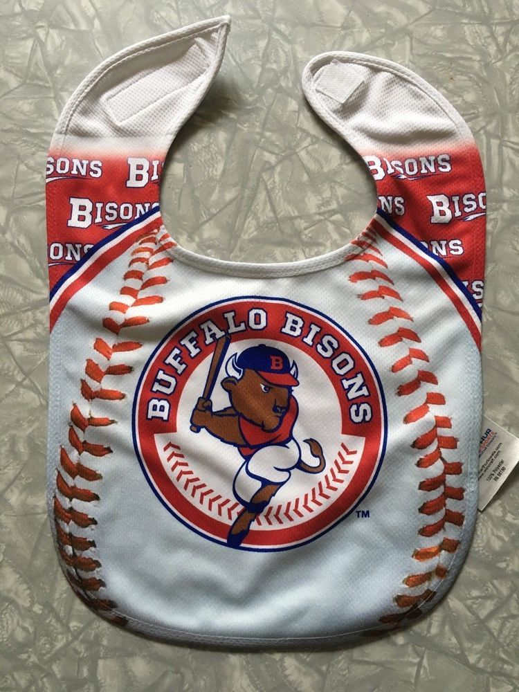 7d45a90e2 Buffalo Bisons Baby Bib Triple-A Minor League Baseball Toronto Affiliate  #McArthurTowelSports #BuffaloBisons