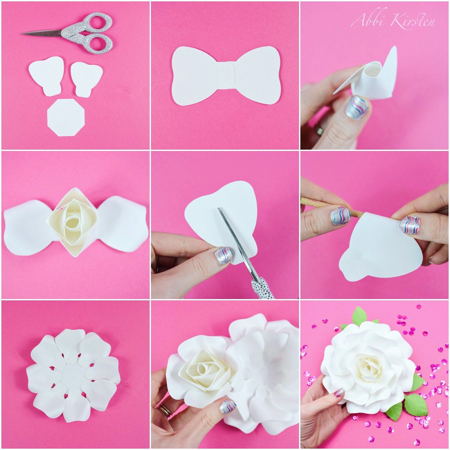 Giant Paper Flowers Large Printable Flower By Catchingcolorflies Paper Flower Template Paper Flower Kit Paper Flower Tutorial