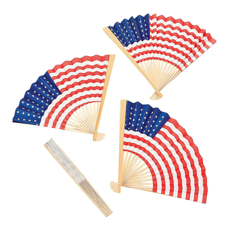 USA Flag Folding Hand Fans   Usa flag, Favors and Birthdays