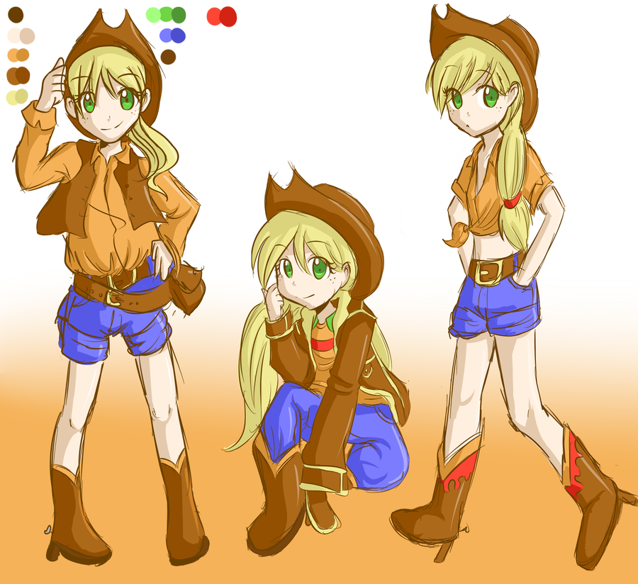 applejack human by applestems on deviantart my little