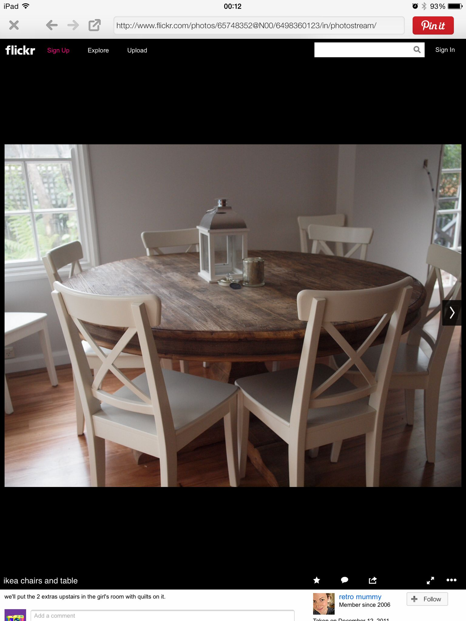 Small round kitchen table  Pin by Depry Nico Andella on contoh  Pinterest  Room Kitchens and