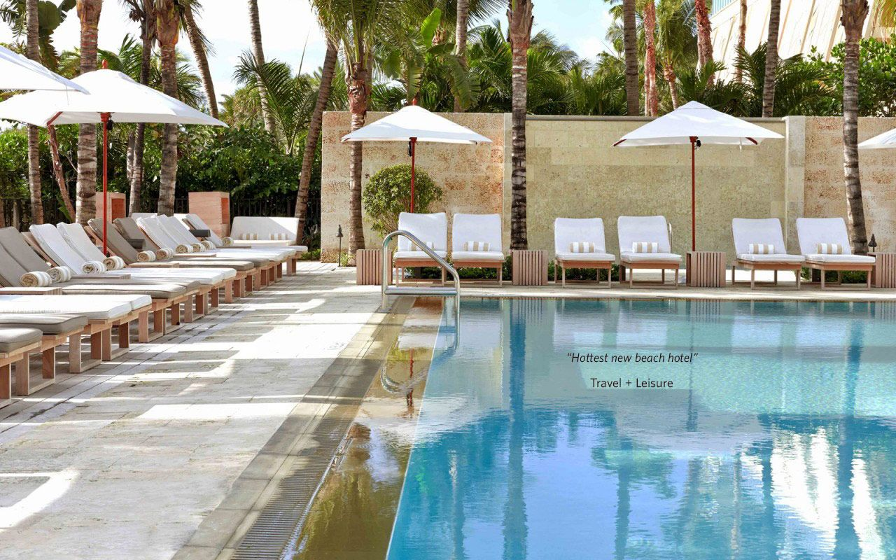 The James Royal Palm | modern, boutique South Beach hotel (two pools, cabanas, direct beachfront access)