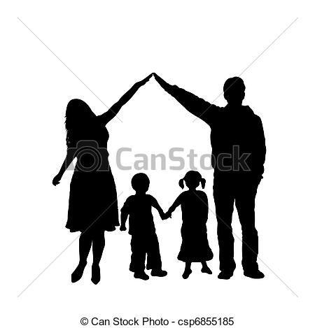 Familia Silueta Vector Buscar Con Google Com Imagens Dia Da