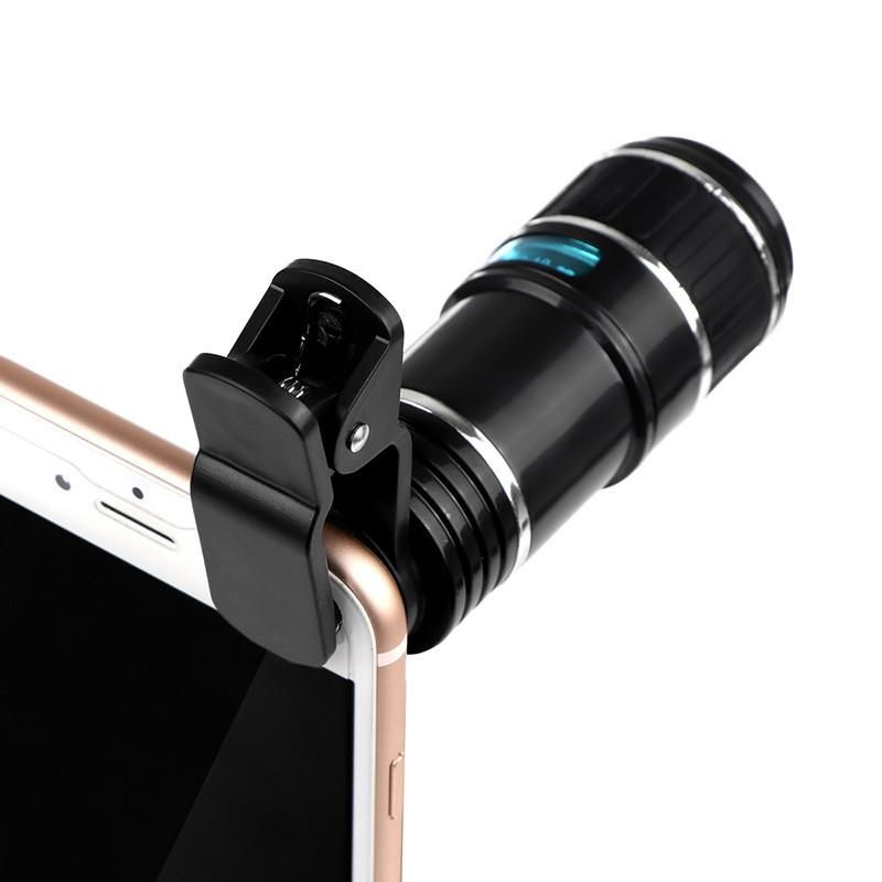 Cell Phone Telescope Lens 12x Zoom Phone Lens Iphone Camera