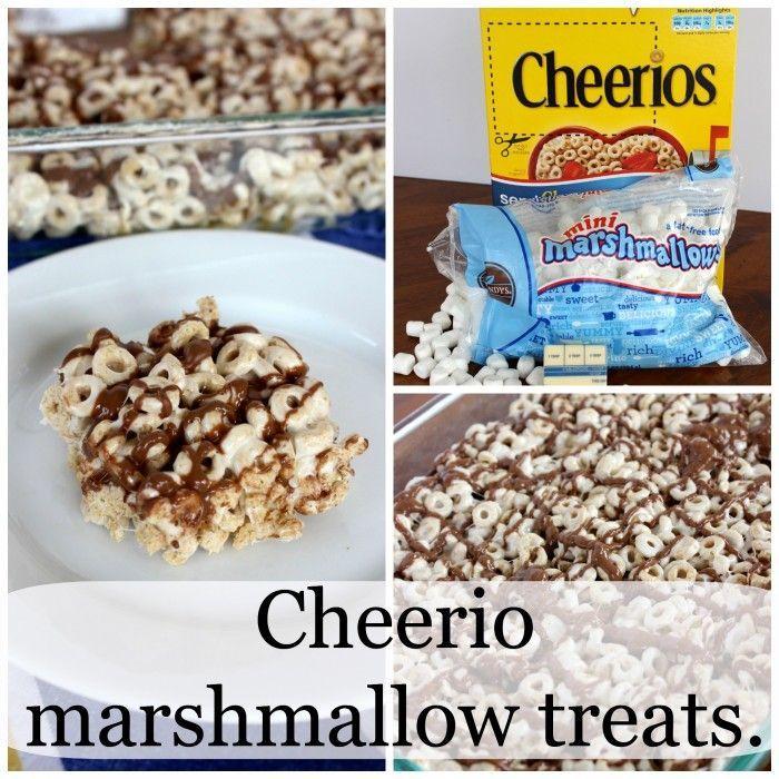 Cheerio marshmallow treats recipe filling snacks marshmallow cheerio marshmallow treats marshmallow treatssuper easychocolate ccuart Image collections