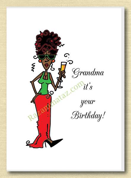 African American Grandma Birthday Card A Grandma Birthday Card African American Birthday Cards Birthday Cards