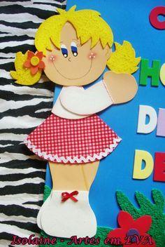 Resultado De Imagen Para Muñeca De Foami Manualidades Niños En Fomi Carpetas Decoradas