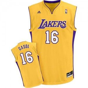 27a8bf8a22ecb Camiseta NBA Pau Gasol Angeles Lakers Amarilla desde  64.85 (-11 ...