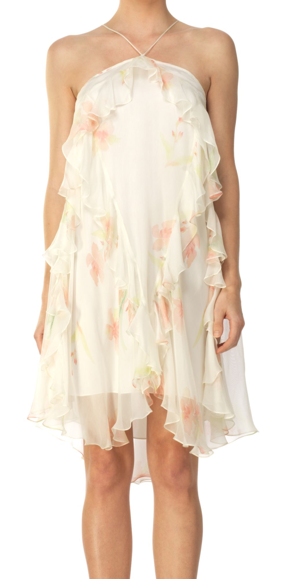 WATERCOLOR SILK CHIFFON FLOUNCE DRESS | Girly, frilly, flouncy - I love it!