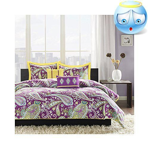 #best Melissau0027s #large Purple And White Paisley Print With Green Accents  Enhances The Dimension