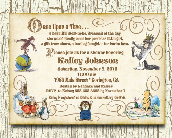 Once Upon A Time Storybook Baby Shower By Kikikinsdesigns On Etsy