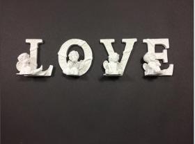 Hobi Yardımcıları :: Polyester Objeler :: LOVE Melek Polyester Obje (Yükseklik 15 cm.)