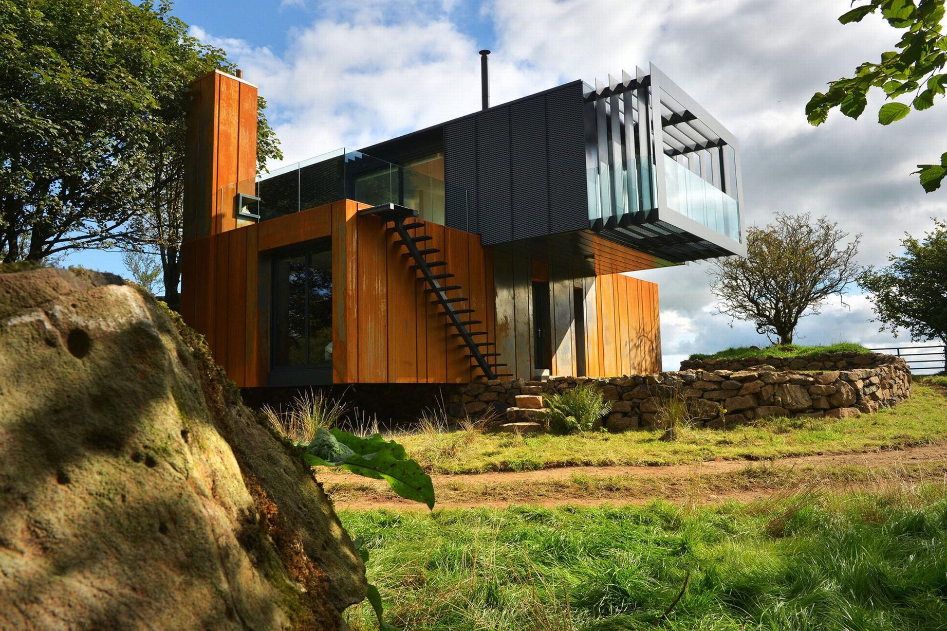 welsh architects sing praises of shipping container conversion - Sea Container Home Designs