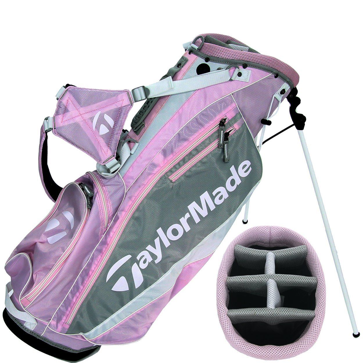 cf99b733c5a Amazon.com   TaylorMade Golf Women s Stand Bag - Pink Gray White   Sports    Outdoors