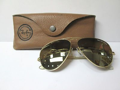 50067f5b7ae71 Vintage 14K Yellow Gold RAY BAN Aviator Sunglasses 0149
