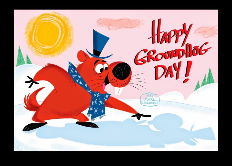 Mark Christiansen's Art and Cartoon Blog: A DAY FOR GROUNDHOGS! I felt like designing a groundhog cartoon character, so I did just that!
